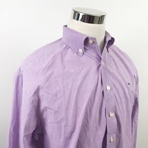 Vineyard Vines Mens Large Whale Shirt Purple White